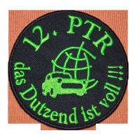 """Aufnäher Motiv """"12. PTR das Dutzend ist voll!!!"""""""