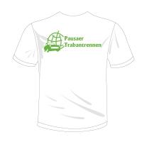 """T-Shirt mit V-Neck Halsausschnitt Motiv """"Pausaer Trabantrennen"""""""